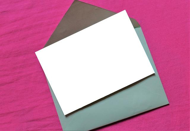 便箋の折り方と封筒への入れ方について